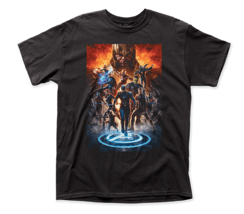 Avenger Endgame Orange Cast T-Shirt