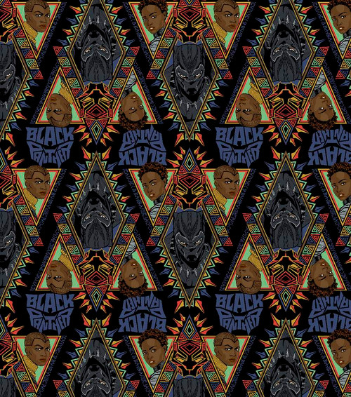 MCU Black Panther Heads, Diamonds Logo Tote Bag