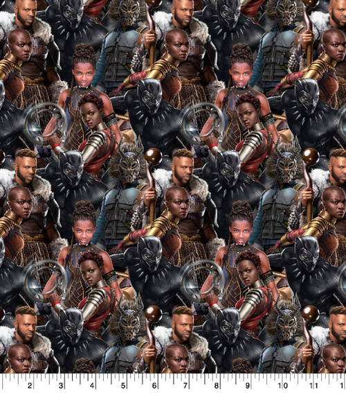 MCU Black Panther Photo Heads, Stacked Tote Bag