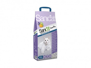 Efficient absorption with a pleasant scent of orange and lavender.   Thanks to the combination of minerals with a double-scented fragrance, Sanicat SuperPlus is a fresher and long-lasting cat litter.   It controls unwanted odours with its fragrance of lavender and orange, making the home smell like the countryside.    Composition: Sepiolite with orange-lavender scent.  Format: Available in 10 L and 20 L.