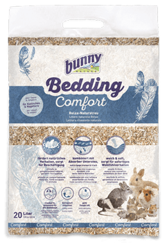 bunnyBedding Comfort is the ideal bedding for your pets to feel as comfortable as possible. The wonderfully soft surface of the bedding invites them to relax right away. Thanks to its natural texture, the Relax natural bedding encourages the animals' natural behaviour, such as digging and scrabbling, keeping them occupied. The Relax natural bedding is ideal combined with the bunnyBedding Absorber (as bottom-bedding with maximum absorbency). This dream combination offers pets and their owners the ideal indoor atmosphere and the driest bedding for weeks.