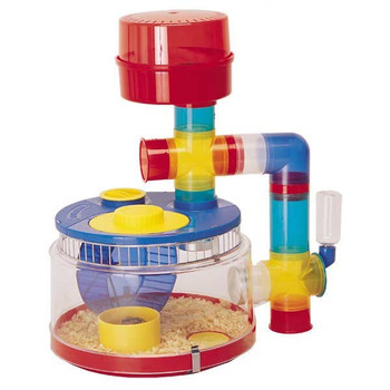 The Rotastak Delux Starter Unit is a fun and colourful way to house the Hamster, Gerbil or Mouse