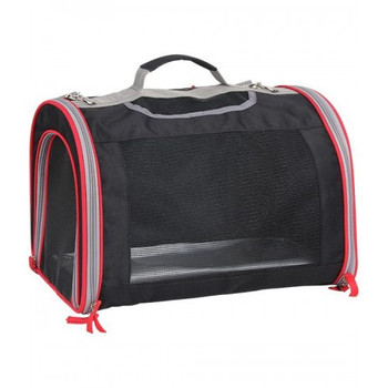 Pawise Pet Carrier has 3 doors to provide easy access to the pet or to give him treats. It has mesh windows that provide adequate ventilation and is made with Oxford 600D Fabric, which is a resilient nylon material. It also comes with expandable area that lets pets move around comfortably with increased air circulation and sturdy steel frame for safety and durability.