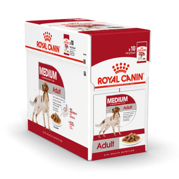 Adult weight from 11 to 25kg Over 12 months old  Renowned for their love of the outdoors and energetic activities, medium-sized dogs require a balanced diet to maintain a healthy weight, glossy coat and strong bones.    Discover our specially tailored nutrition for your medium-sized dog.   Natural defences Helps support your dog's natural defences with an antioxidant complex and prebiotics.  High digestibility Helps promote optimal digestibility thanks to an exclusive formula including very high quality protein and a balanced supply of dietary fibre.  OMEGA 3: EPA - DHA Enriched formula with omega-3 fatty acids (EPA-DHA) to help maintain healthy skin.   Guideline Medium Adult
