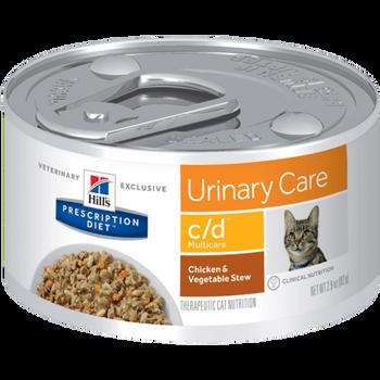 Prescription Diet C/D Multicare Feline Chicken & Vegetable Stew (24x82g)
