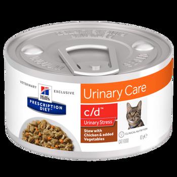 Prescription Diet C/D Urinary Stress Feline Stew With Chicken & Added Vegetables (24x82g)