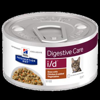 Prescription Diet I/D Feline Stew With Chicken & Added Vegetables (24x82g)