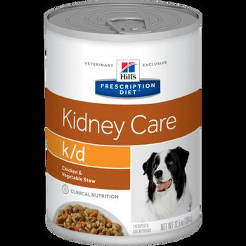 Prescription Diet K/D Canine Chicken & Vegetable Stew (12x354g)