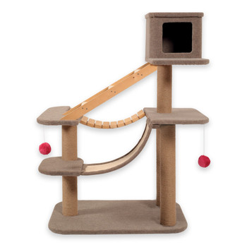 The Cat Park 2 by Zolux is the perfect place to satisfy the cat's natural instinct to scratch, play, sleep and hide
