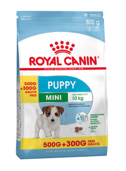 SIZE HEALTH NUTRITION MINI PUPPY 500G + 300G FREE