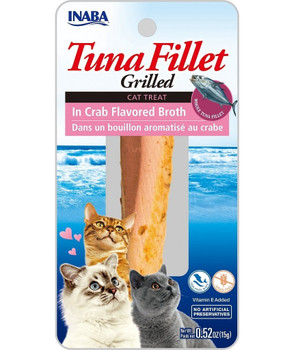 Inaba Grilled Tuna Fillet in Crab Broth Cat Treat, 15g