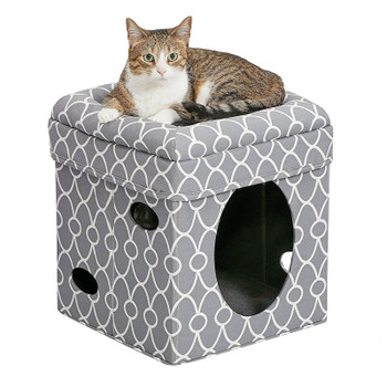 Curious Cat Cube – Grey