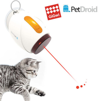 The laser will automatically turned off after 10 minutes(update to 10 minutes now,not 5 any more),prevent your cat from being over stimulated The laser moves randomly across floors and walls which appeals to natural hunting instinct of cats Requires 3 AAA batteries(not included),for best performance,suggest using alkaline batteries Suction cup could only adhere to smooth/clean surface,it would be more stable with a bit water,there are also pothook,suction cup and nail in the package,three different ways for you to hang it on the wall,door or windows