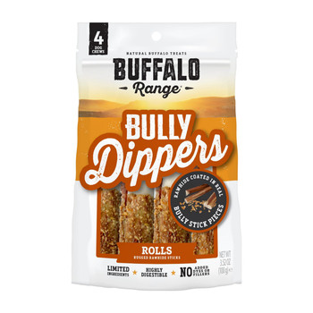 Buffalo Range Bully Dipped Roll For Dogs – 4ct