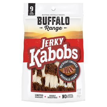 Buffalo Range Natural, Grain Free Jerky Kabob Rawhide Chews for Dogs