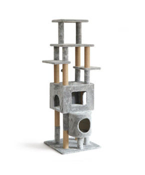 NP DESIGN CAT TREE GREY LARGE