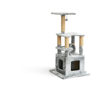 NP DESIGN CAT TREE GREY MEDIUM