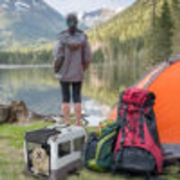 Canine Camper Sportable Tent Dog Crate, 42″ L X 26″ W X 32″ H