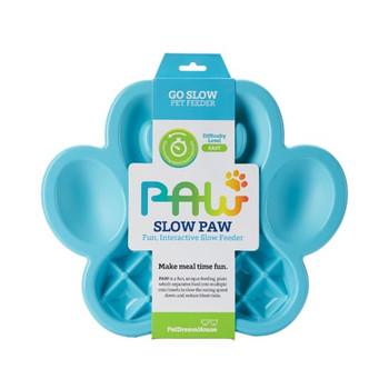 PETDREAMHOUSE PAW SLOW FEEDER BLUE