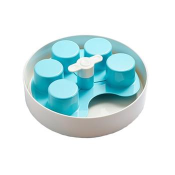 PETDREAMHOUSE SPIN INTERACTIVE FEEDER PALETTE BLUE