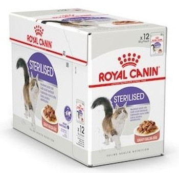 Gravy Sterilised pouches Adult cats over 12 months of age Helps maintain ideal weight of sterilised cats. Formulated to match the optimal Macro Nutritional Profile instinctively preferred by adult cats. Supports a healthy urinary system.