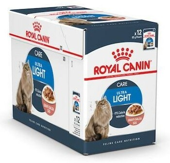 For adult cats over 12 months of age. Chunks in GRAVY Helps reduce the calorie intake of cats (-19%) and is enriched with L-Carnitine to assist in fat metabolism Higher protein content support lean muscle mass. Balanced mineral and water content supports a healthy urinary system.