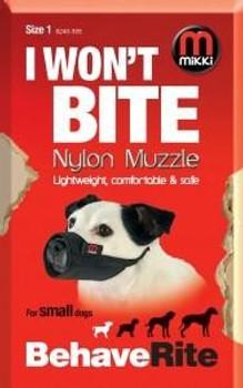 NYLON DOG MUZZLE SIZE 1