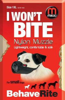 NYLON DOG MUZZLE SIZE 1-XL