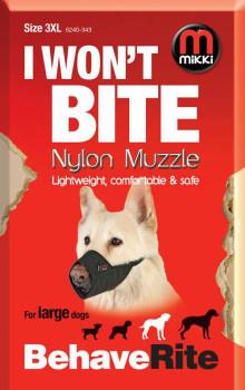 NYLON DOG MUZZLE SIZE 3-XL