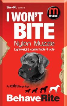NYLON DOG MUZZLE SIZE 4-XL