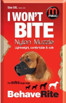 NYLON DOG MUZZLE SIZE 5-XL