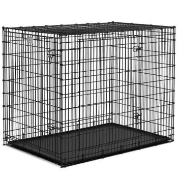 Crate Black Double Door 54″