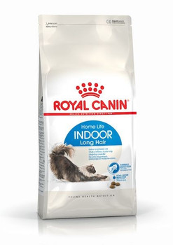 Royal Canin Indoor Long Hair is designed for cats with long hair, who only live indoors. It promotes a brilliant glossy coat, reduces hairballs and nasty smelling faeces.  Increased fibre content (11%), dried sugar beet pulp and psyllium to assist the natural excrement of swallowed hair.  Adjusted protein content (35%) as well as vitamins (A and B), essential fatty acids and chelated trace elements to promote brilliant glossy coat and healthy skin.  Highly digestible proteins with higher nutritional value for maximum digestion and reduced excremental odour.  Appropriate mineral content to promote healthy digestion, and a pH level between 6.0 and 6.5.