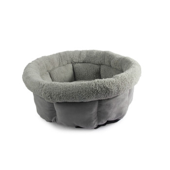CUDDLE BED - SMALL/GREY