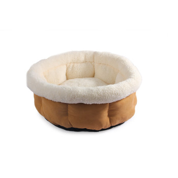 CUDDLE BED - SMALL/TAN