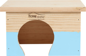 RECTANGULAR HOME COLOR WOODEN HOUSE - SMALL/BLUE