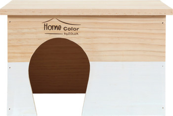 RECTANGULAR HOME COLOR WOODEN HOUSE - LARGE/WHITE