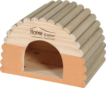 HOME COLOR WOODEN HOUSE WITH ROUND TIMBERS - MEDIUM/ORANGE