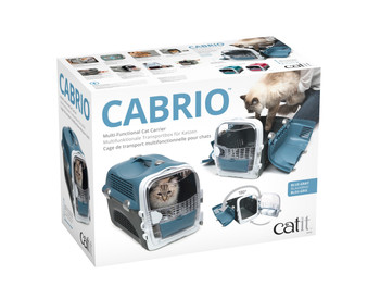 CABRIO CAT CARRIER SYSTEM - BLUE/GREY