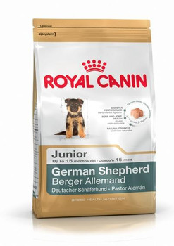 Breed diet for German Shepherd puppies < 15 months old. Targeted digestive safety