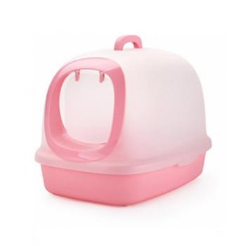 Nutra Pet Cat Toilets XXL Luxury Cat Litter Box Pink 62*46*44 Cm