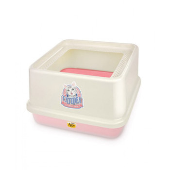 CatIdea Top Entry Cat Litter Box-Pink