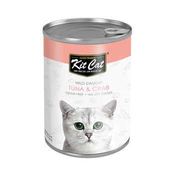 Kit Cat Wild Caught Tuna with Crab Canned Cat Food 400g