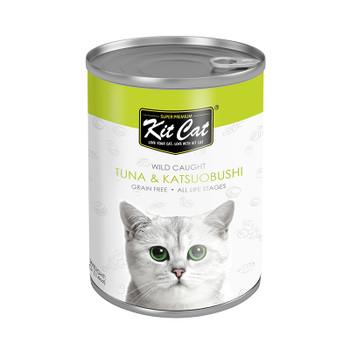 Kit Cat Wild Caught Tuna with Katsuobushi Canned Cat Food 400g