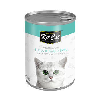 Kit Cat Wild Caught Tuna with Mackerel Canned Cat Food 400g