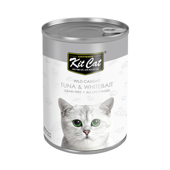 Kit Cat Wild Caught Tuna with Whitebait Canned Cat Food 400g