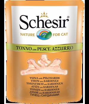 Schesir Cat Wet Food-Tuna With Sardines 12x85g