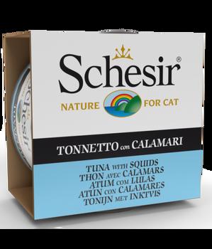 Schesir Cat Wet Food-Tuna With Squids  6x85g