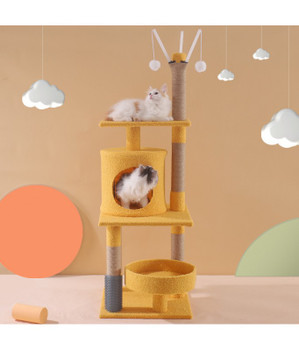 Pado Cat Tree Play Tower And Scratching Rest Sleep And Play With Hanging Toys - 40 X 125 X 40 Cm