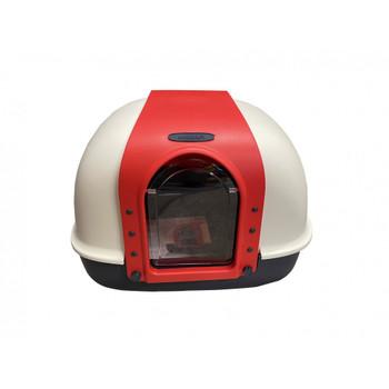 Nutra Pet Dragon Inn Butterfly Doors Closed Cat Litter Box -RED L60cm X W50cm X H45Cm